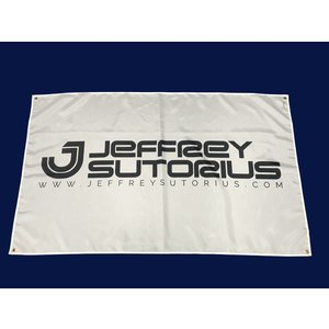 JEFFREY SUTORIUS Flag with logo