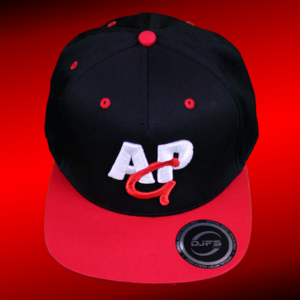 snapback cap 3D - red-white on black/red