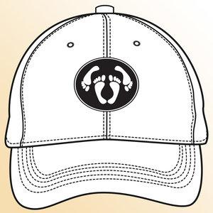 Snapback CAP adult logo - black-white