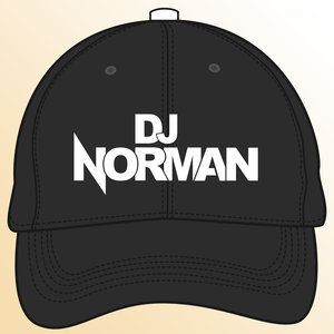 DJ NORMAN Snapback CAP - logo DJ Norman - zwart-wit