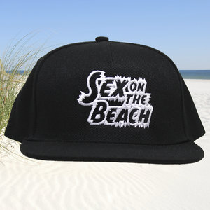 Snapback CAP - Sex on the Beach logo - zwart-wit