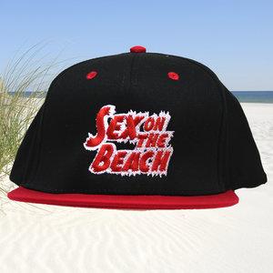 Snapback CAP - Sex on the Beach logo - red-white
