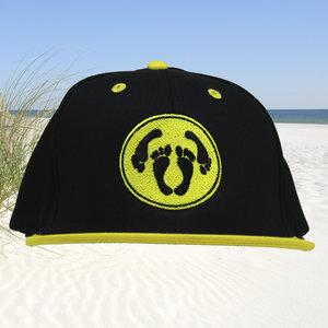 Snapback CAP adult logo - zwart-geel