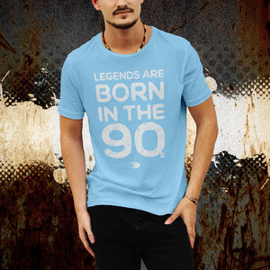 T-shirt, skyblue, Born in the 90s