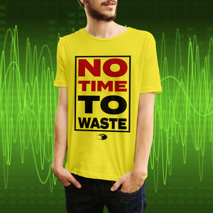 T-shirt, geel, No time to waste