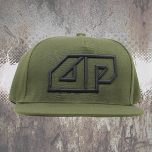 Snapback CAP - 3D embroidered Deepack logo - green on green