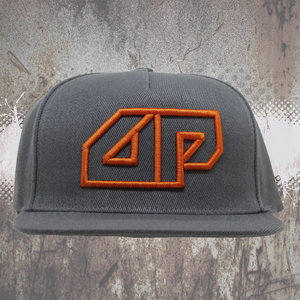 DEEPACK Snapback CAP - 3D embroidered Deepack logo - orange on grey