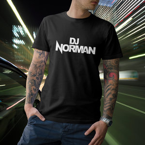 DJ NORMAN T-shirt, black, DJ Norman logo