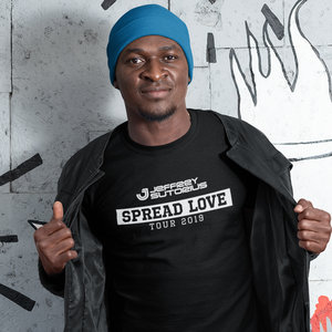 JEFFREY SUTORIUS T-shirt zwart - Spread Love tour 2019