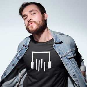 Drop tail t-shirt, headphone logo