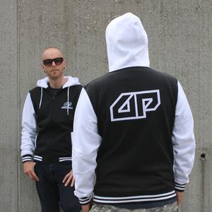 Hoodie zipper Zwart/Wit