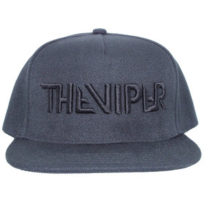 CAP snapback - Black on black 3D embroidered