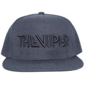 THE VIPER CAP snapback- Zwart op zwart 3D geborduurd