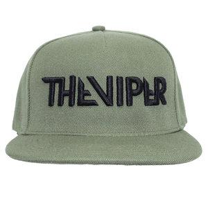 CAP snapback- Zwart op armygreen 3D geborduurd