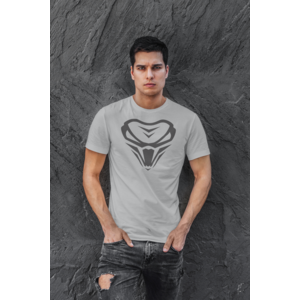 THE VIPER Long and Lean Tee with logo - Unisex - SILVER