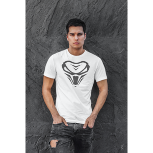 THE VIPER Long and Lean Tee met logo - Unisex - WIT