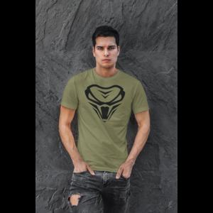 THE VIPER T-shirt, Armygreen, logo in zwart