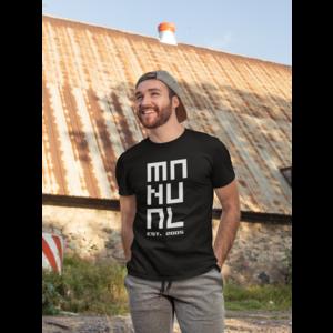 MANUAL MUSIC T-shirt zwart, logo MANUAL EST. 2005 in wit