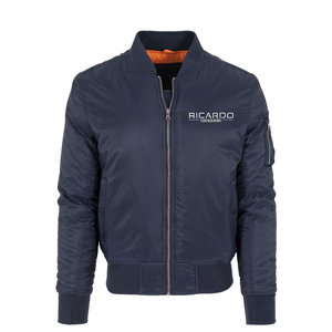 RICARDO MORENO BOMBERJACK NAVY MEN - embroided in white and black