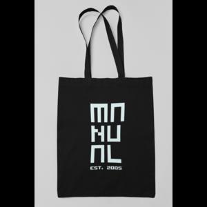 100% Organisch katoenen zwarte tas MANUAL EST. 2005 logo