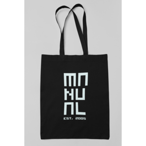 MANUAL MUSIC 100% Organic cotton black shopper MANUAL EST. 2005 logo