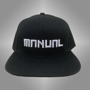 CAP snapback - White on black 3D embroidered