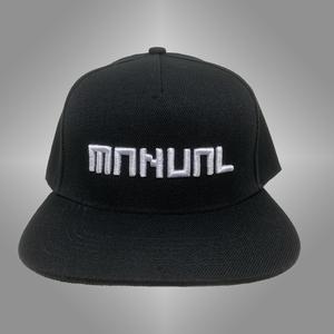 MANUAL MUSIC CAP snapback- Wit op zwart 3D geborduurd
