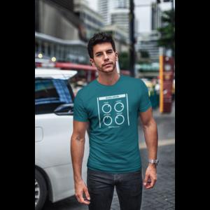 T-shirt BASSDRUM diva blauw, witte opdruk