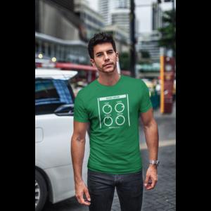 T-shirt BASSDRUM kelly groen, witte opdruk