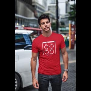 T-shirt BASSDRUM red, white print