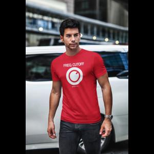 KNOBWEAR T-shirt FREQ. CUTOFF rood, witte opdruk