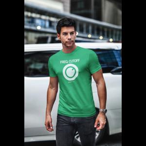 T-shirt FREQ. CUTOFF kelly groen, witte opdruk