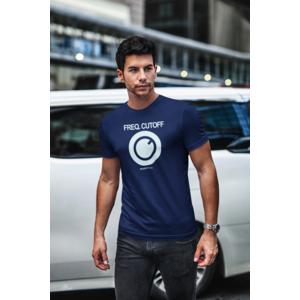 KNOBWEAR T-shirt FREQ. CUTOFF navy, witte opdruk