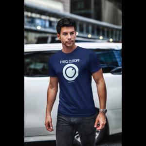 T-shirt FREQ. CUTOFF navy, witte opdruk