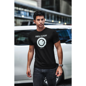 KNOBWEAR T-shirt FREQ. CUTOFF zwart, witte opdruk