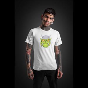 T-shirt wit met DWARF HEAD in full color - Copy
