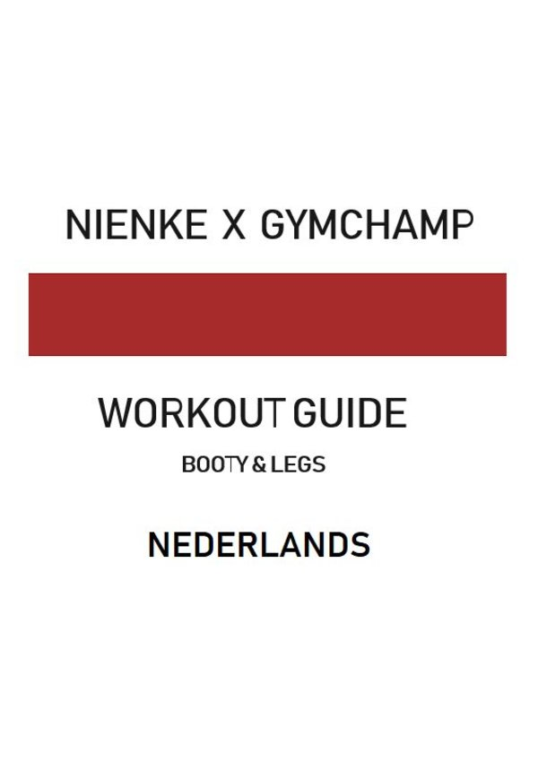 BOOTY & LEGS WORKOUT GUIDE