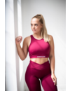 CLASSIC SPORTS BRA - BURGUNDY