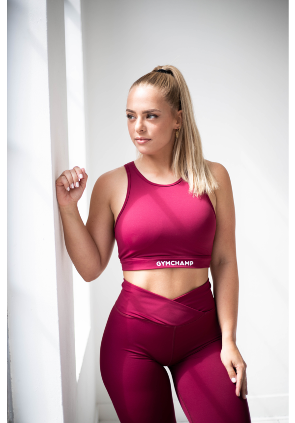 GYMCHAMP CLASSIC SPORTS BRA - BURGUNDY