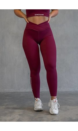 Gymchamp sportswear GYMCHAMP CLASSIC HIGH WAIST LEGGING - BURGUNDY