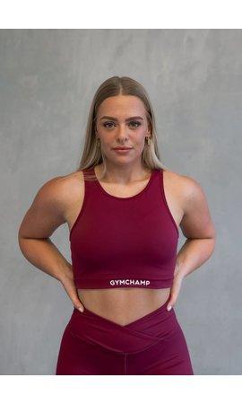 Gymchamp sportswear CLASSIC SPORTS BRA - BURGUNDY