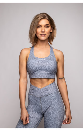 Gymchamp sportswear HEATHER CROSS BACK SPORTS BRA - GREY