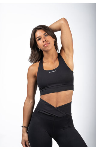 Gymchamp sportswear CROSS BACK SPORTS BRA - BLACK