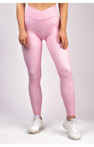 Gymchamp sportswear HEATHER HIGH WAIST LEGGING - BLUSH PINK