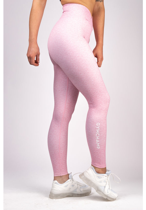 HEATHER BLUSH PINK HIGH WAIST LEGGING
