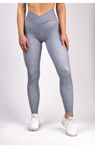 Gymchamp sportswear HEATHER HIGH WAIST LEGGING - GREY