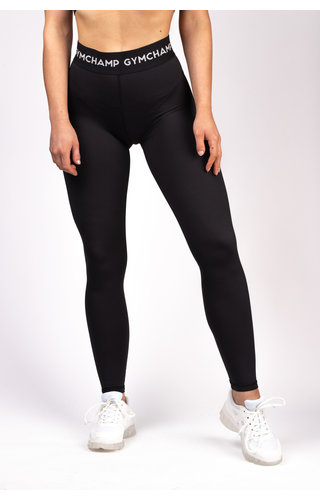 Gymchamp sportswear CHAMP HIGH WAIST LEGGING - BLACK