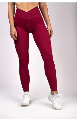 Gymchamp sportswear CLASSIC HIGH WAIST LEGGING - BURGUNDY