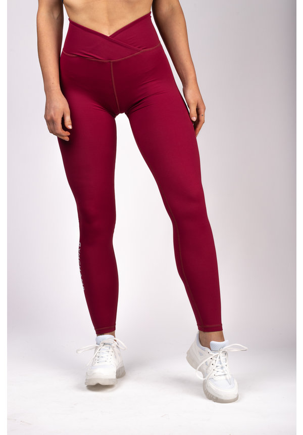 CLASSIC HIGH WAIST LEGGING - BURGUNDY