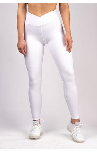 Gymchamp sportswear CLASSIC HIGH WAIST LEGGING - WHITE LIMITED EDITION